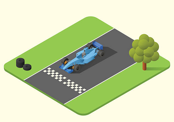 formula one race car formula one race car vector isometric illustration. indy car axonometric indy racing league indycar series stock illustrations
