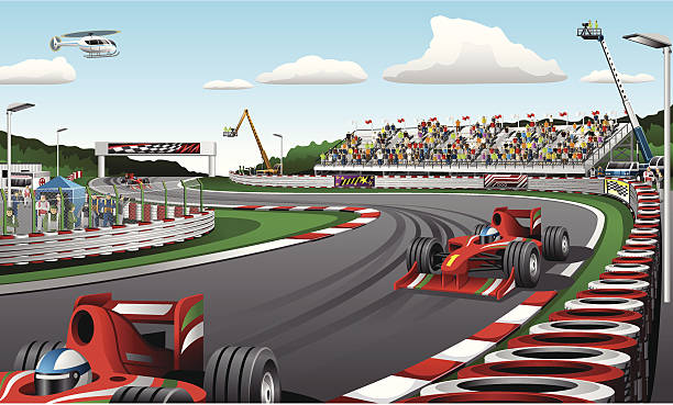 Formula one racing cars - Illustration vector illustration of Formula one racing cars indy racing league indycar series stock illustrations