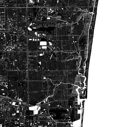 Fort Lauderdale, Florida Vector Map