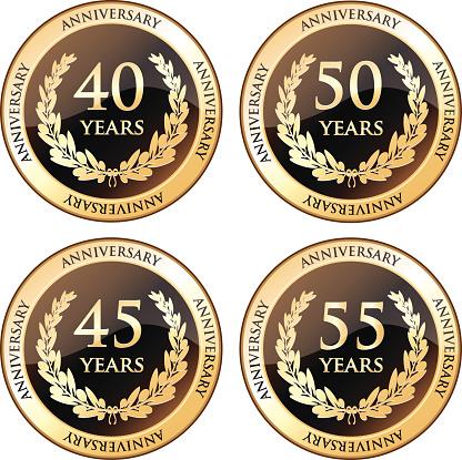 Fortieth And Fiftieth Anniversary Awards-vektorgrafik och fler bilder på 35-39 år
