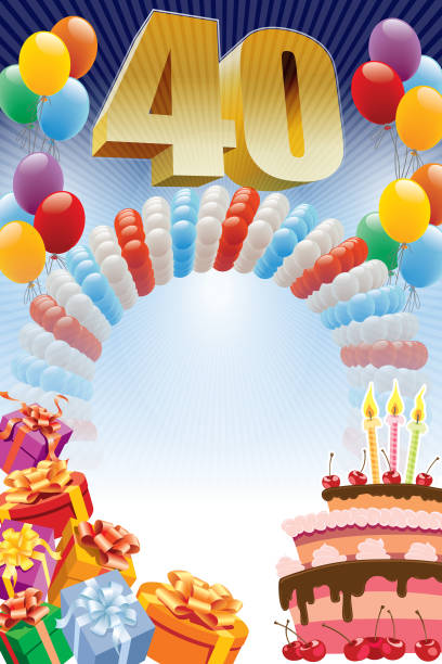 Best 40th Birthday Illustrations, Royalty-Free Vector ...