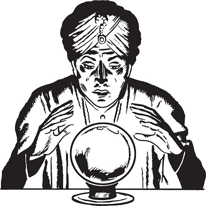 Fortune Teller Looking in a Crystal Ball