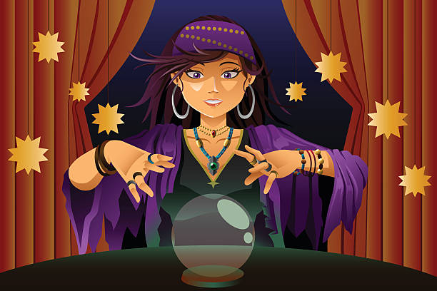 Best Fortune Teller Illustrations, Royalty-Free Vector