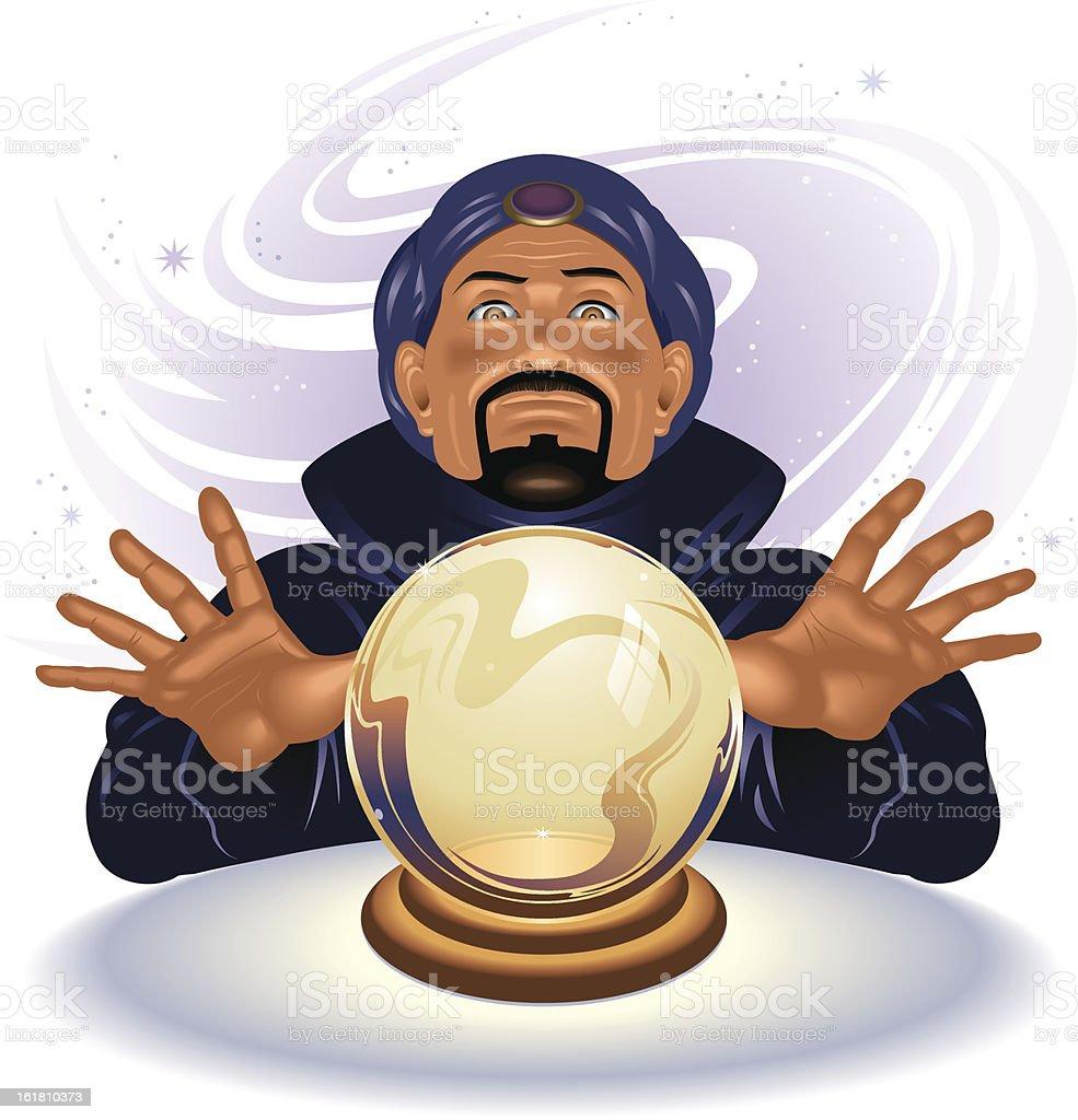 Fortune Teller royalty-free stock vector art
