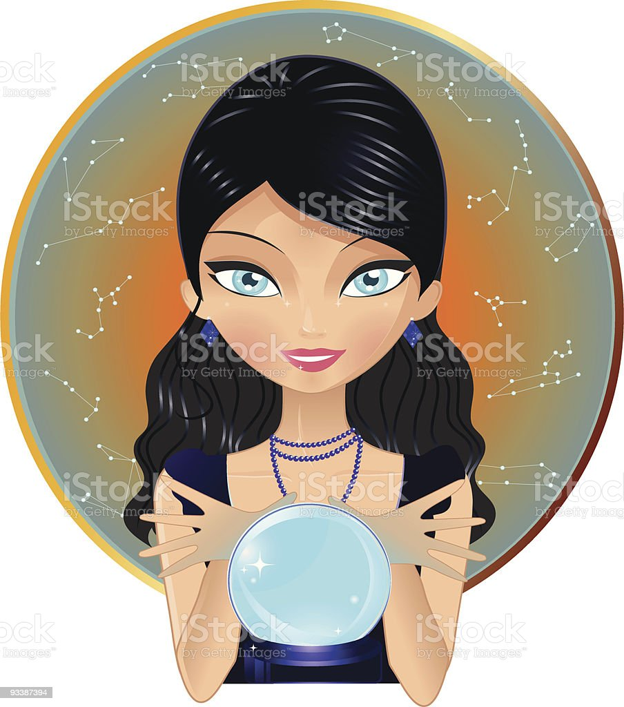 Fortune teller vector art illustration
