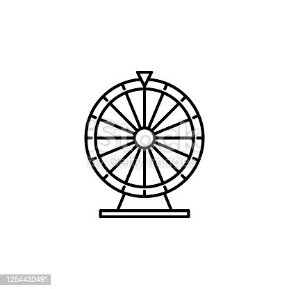 fortune wheel line icon. Signs and symbols can be used for web, logo, mobile app, UI, UX on white background