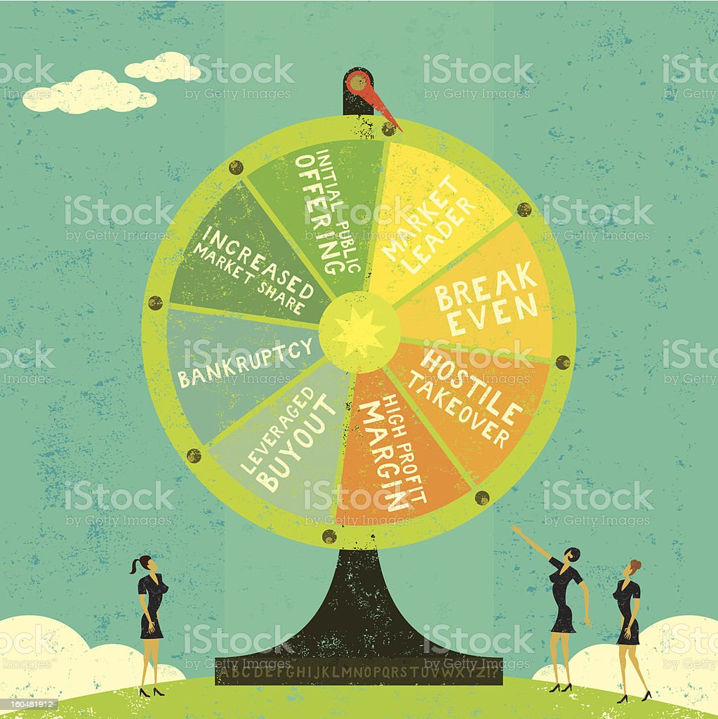 Fortune Wheel royalty-free fortune wheel stock vector art & more images of achievement