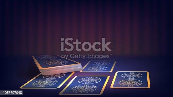 Fortune-teller's table, tarot