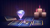 Fortune-teller's table. Tarot