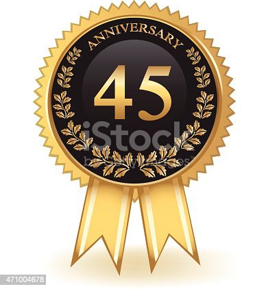 istock Forty Five Year Anniversary 471004678
