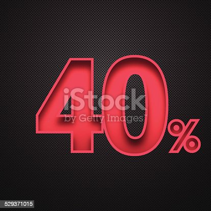 Forty percent off. Discount 40%.