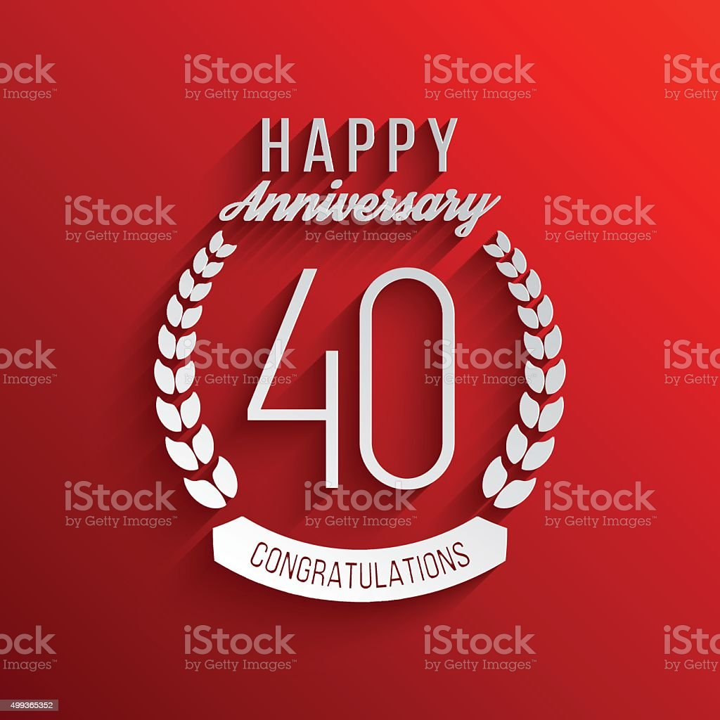 forty years anniversary celebration logotype 40th anniversary logo