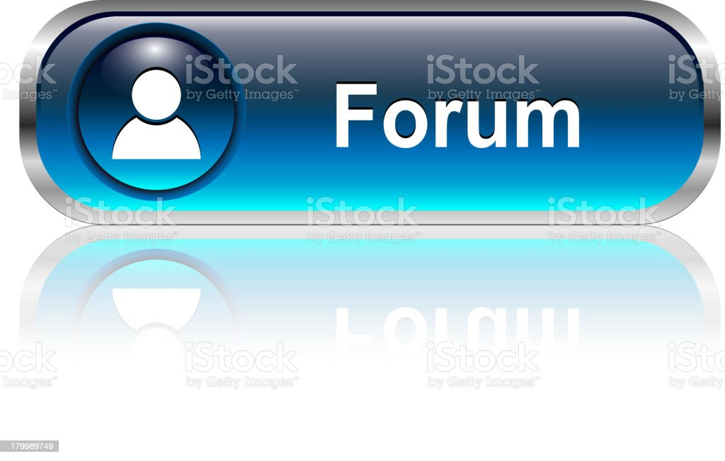 Forum Button royalty-free stock vector art