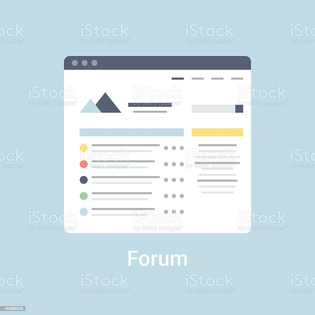 Forum Wireframe Stock Vector Art & More Images of 2015 484965358 ...