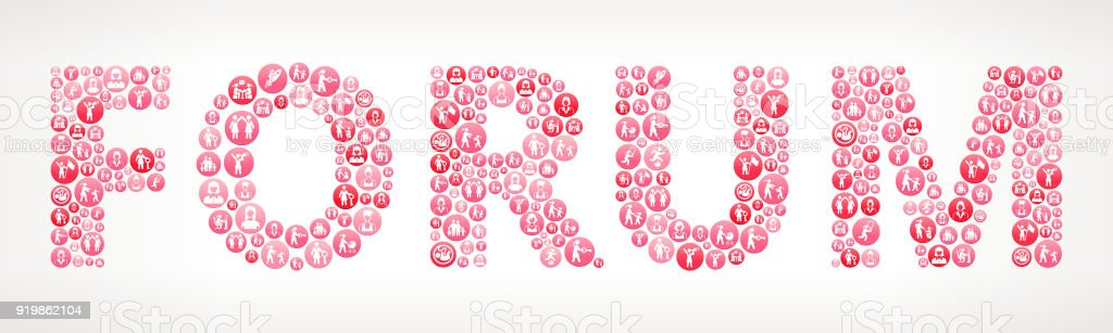 Forum Women's Rights  Vector Buttons vector art illustration