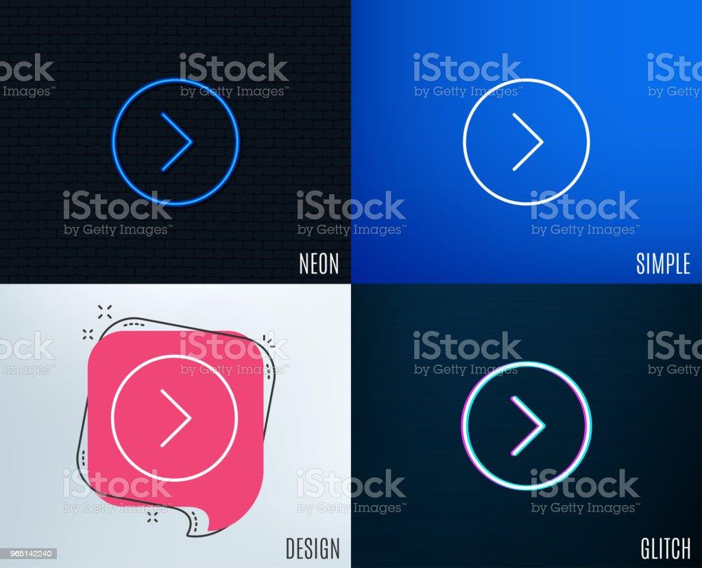 Forward arrow line icon. Next Arrowhead. royalty-free forward arrow line icon next arrowhead stock vector art & more images of arrow symbol