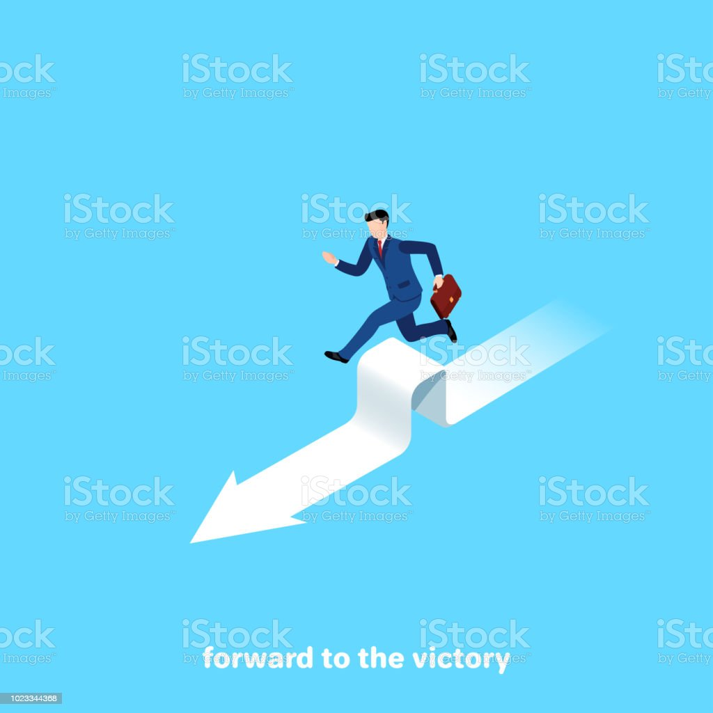 forward to the victory 6 vector art illustration