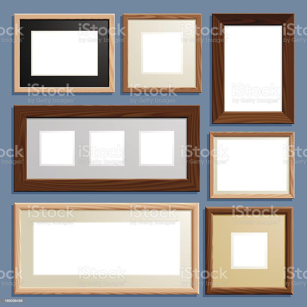 fotoframe (vector) royalty-free stock vector art