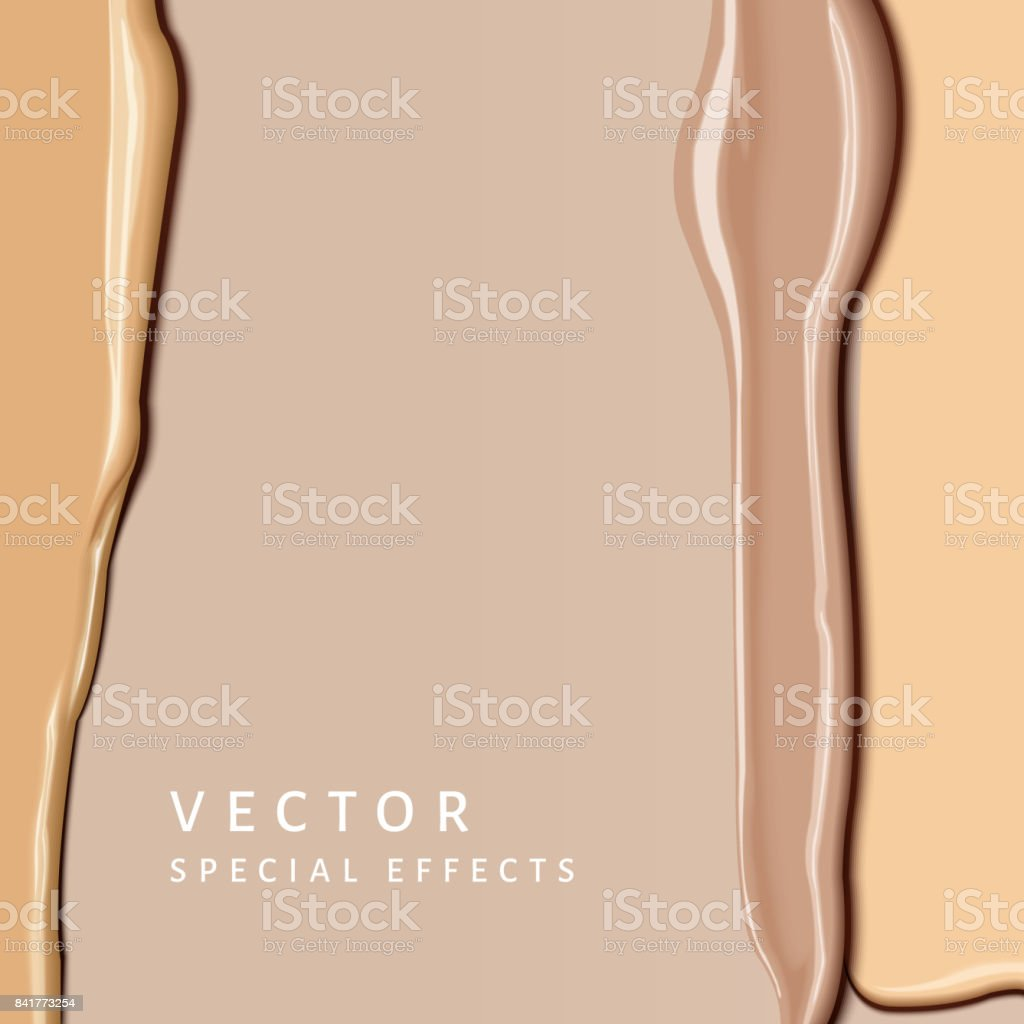 Foundation smear texture