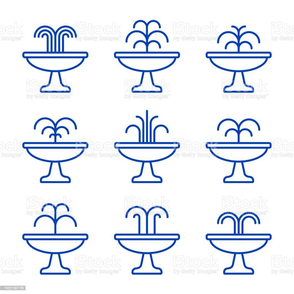 Conjunto de ícones de fonte preta. Vector isolado ilustração plana - ilustração de arte em vetor