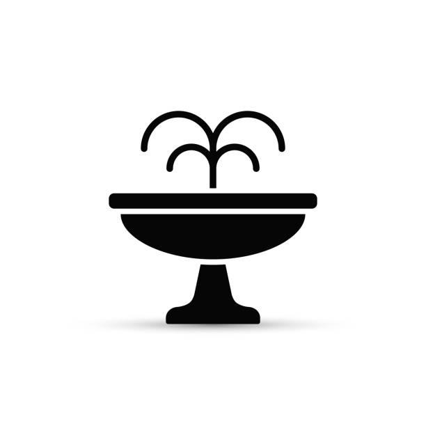 fountain flat icon. vector isolated minimal illustration - fontanna stock illustrations