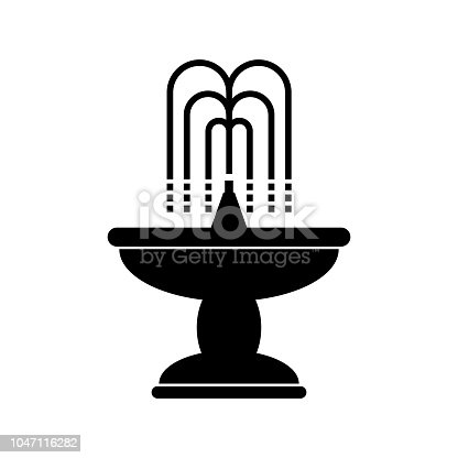 Fountain icon on a white background