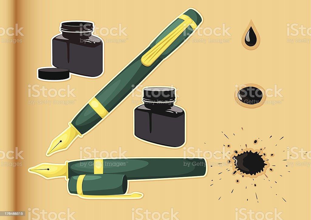 fountain pen and ink royalty-free fountain pen and ink stock vector art & more images of art