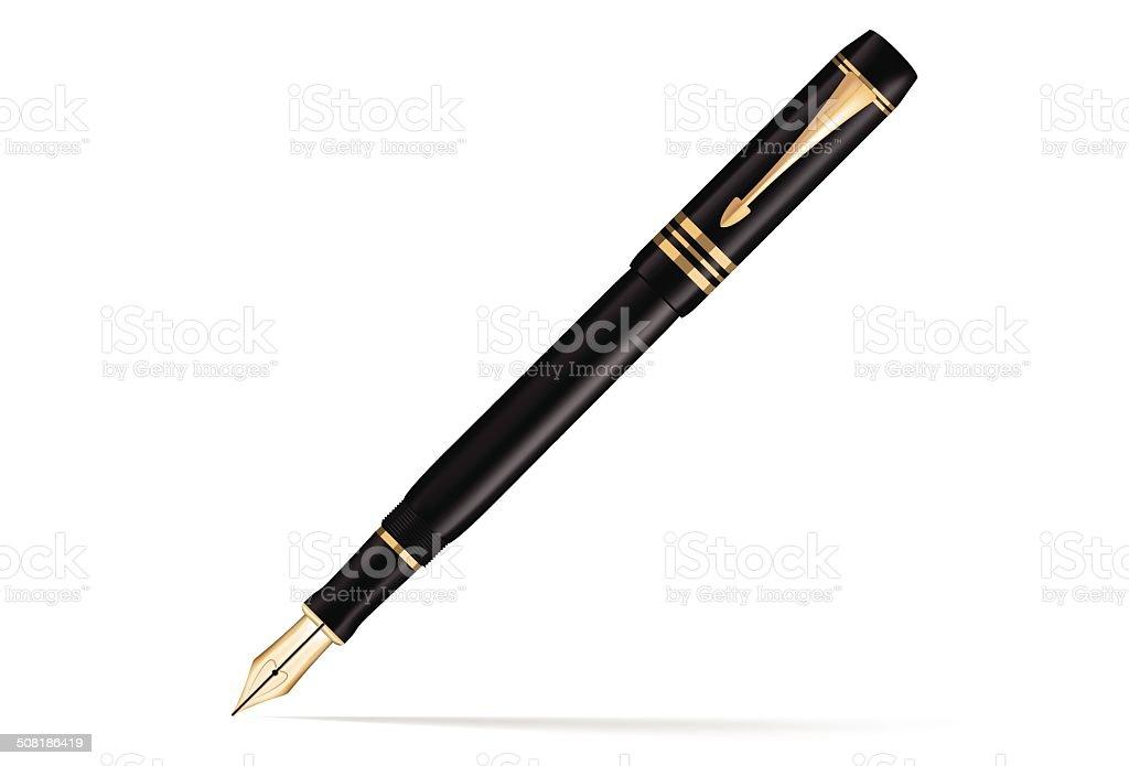 royalty free fountain pen clip art vector images illustrations rh istockphoto com Quill Pen Clip Art fountain pen clipart png