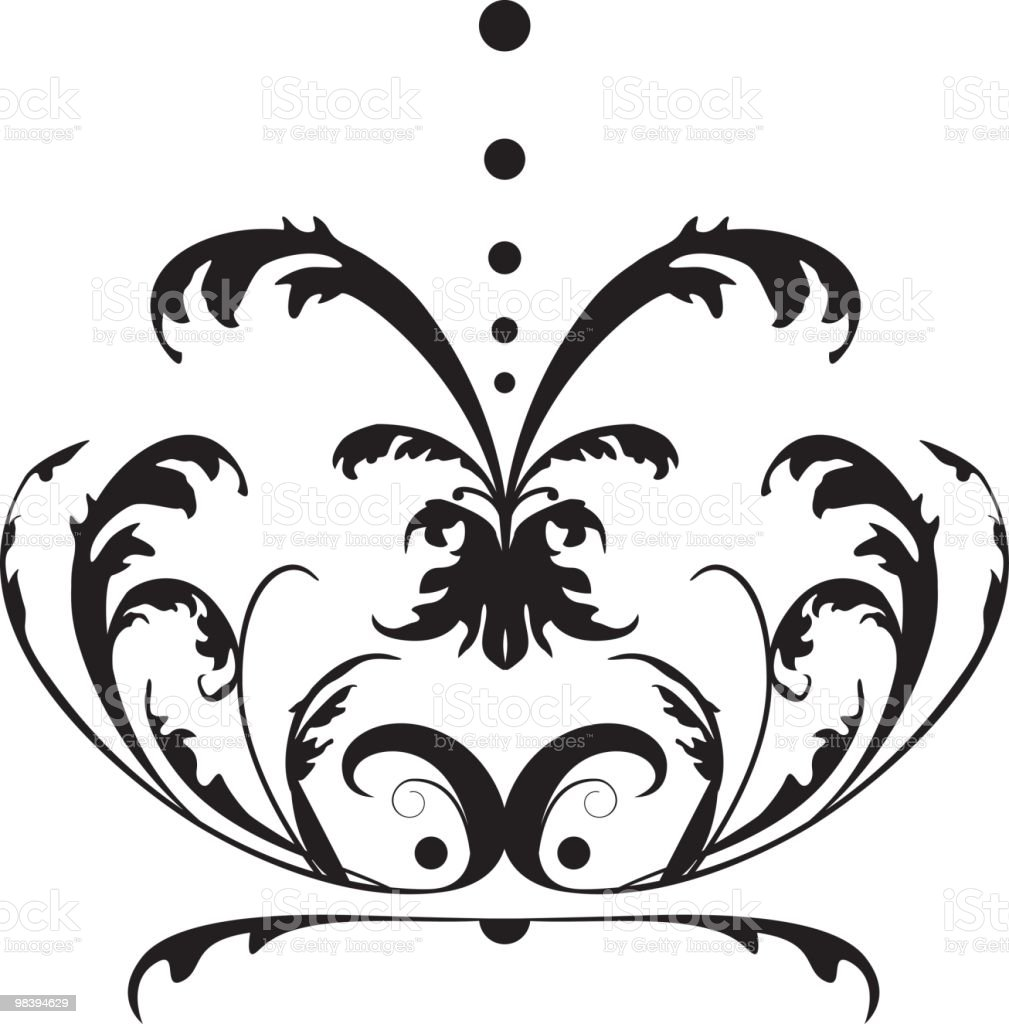 Fountain Scroll royalty-free fountain scroll stock vector art & more images of baroque style