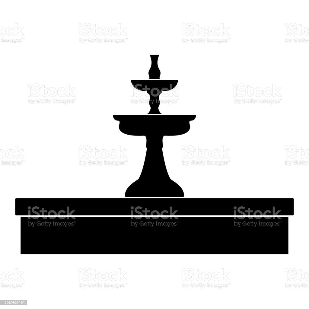 Fonte do ícone de cor preta. - ilustração de arte em vetor