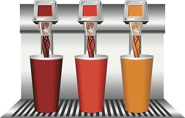 ilustrações, clipart, desenhos animados e ícones de fountain_drinks - fontes de bolha