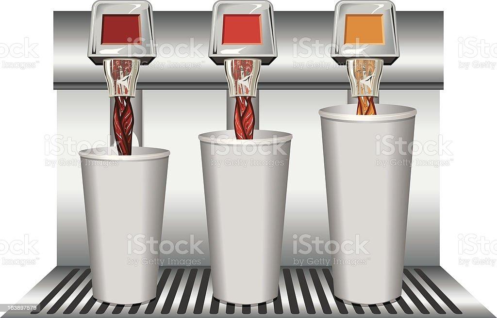 Fountain_drinks_varying_sizes - ilustração de arte em vetor