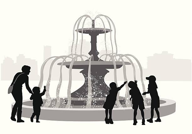 fountainfun - fontanna stock illustrations