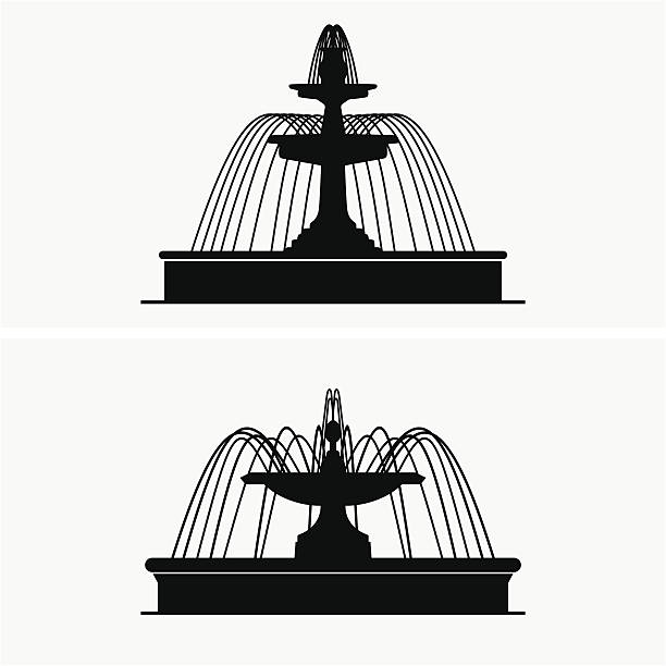 stockillustraties, clipart, cartoons en iconen met fountains - fontein