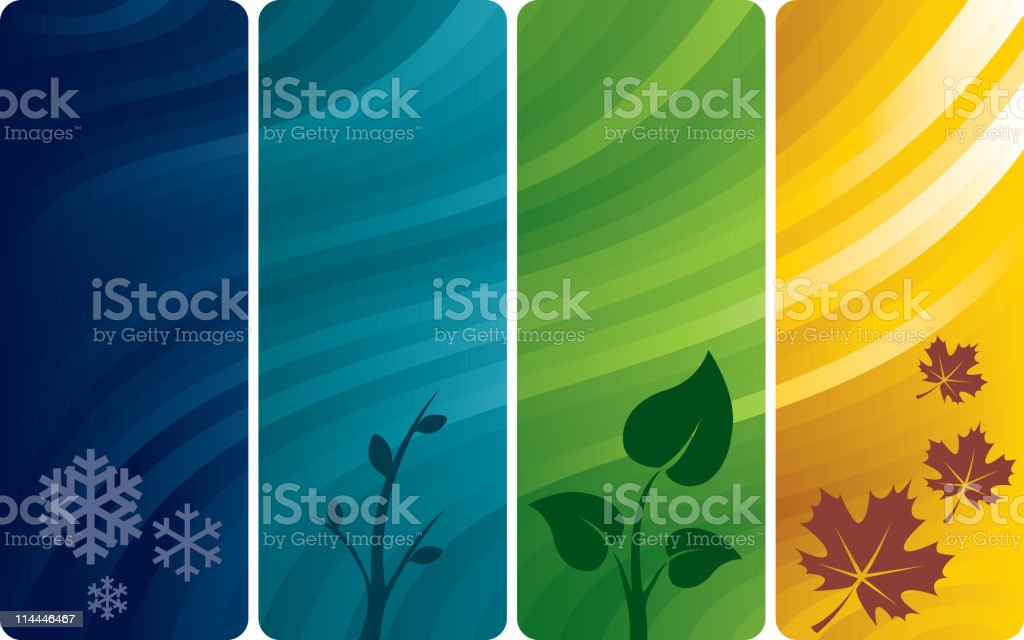Four abstract backgrounds vector art illustration