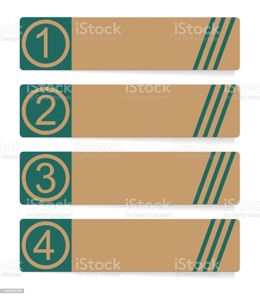 Four abstract vector banner royalty-free four abstract vector banner stock vector art & more images of backgrounds