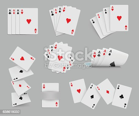 Four aces playing cards set for any design