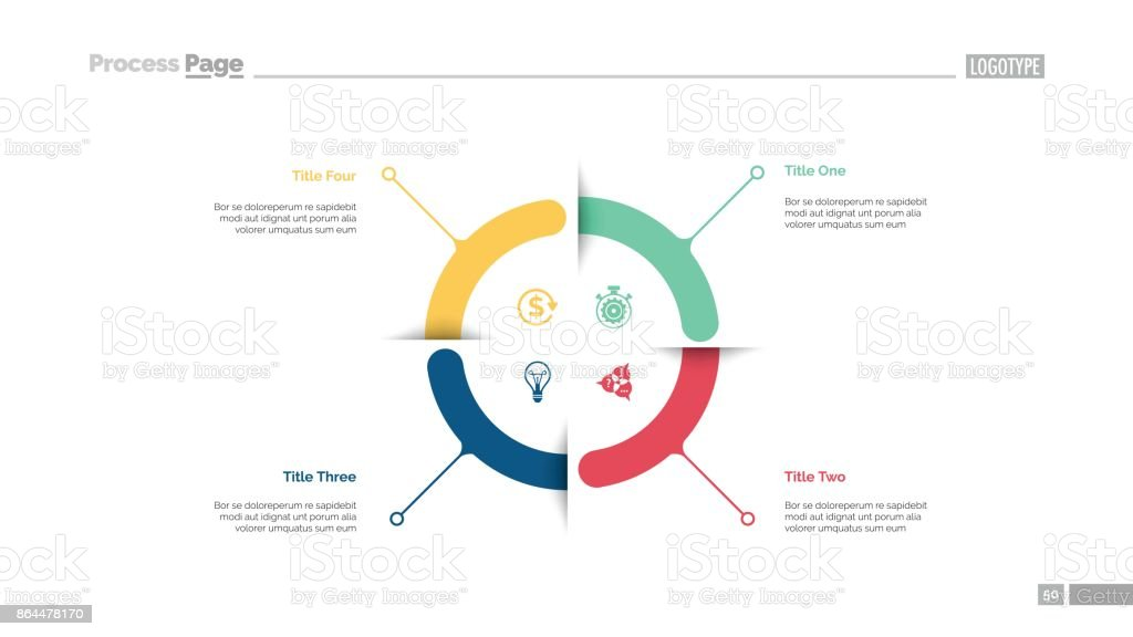 Four Aspects Circle Diagram Slide Template