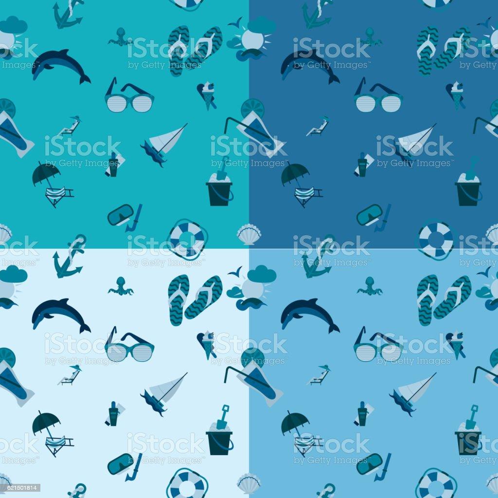 Vier Hintergrund in verschiedenen Farben Lizenzfreies vier hintergrund in verschiedenen farben stock vektor art und mehr bilder von anker