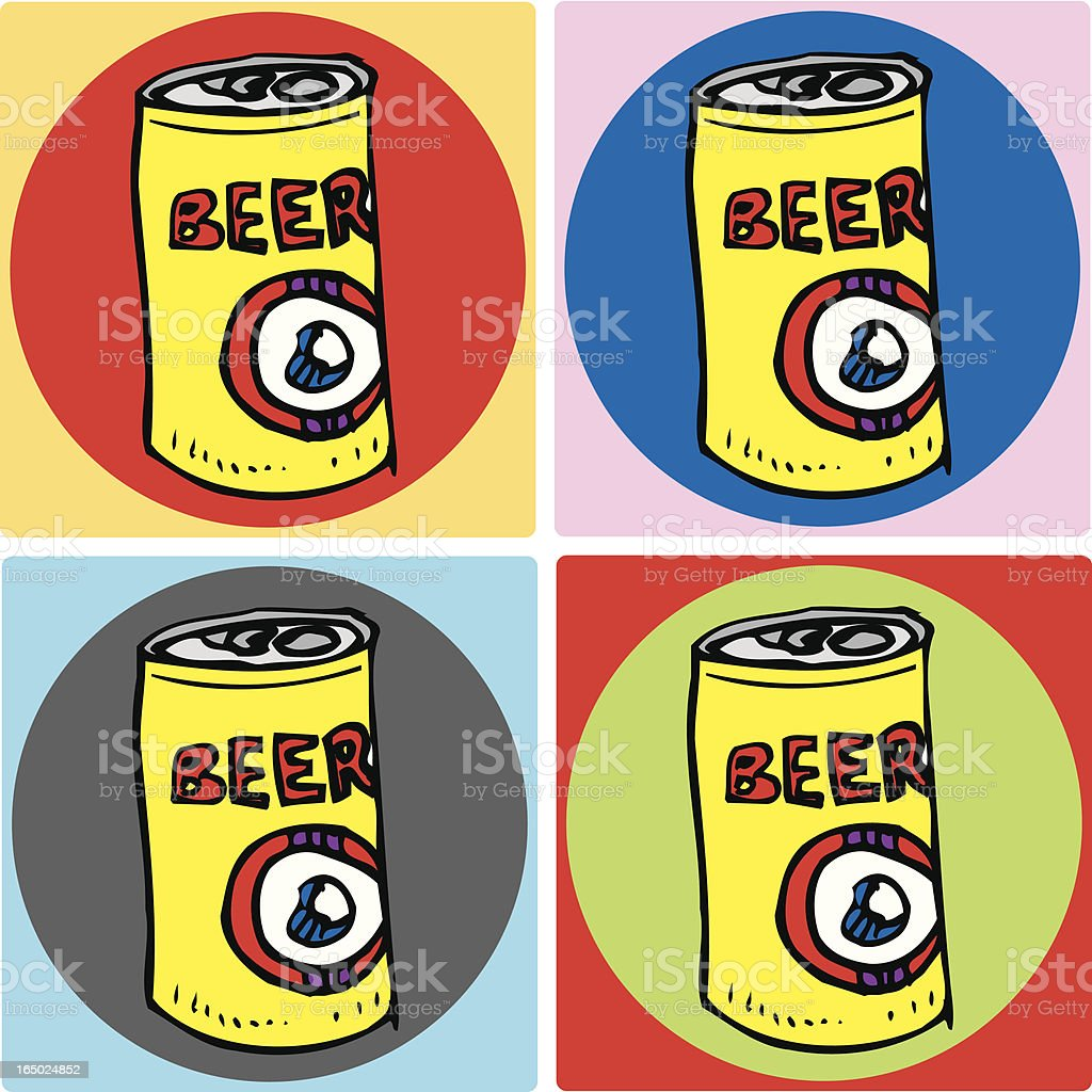 Four Beer Coasters royalty-free stock vector art