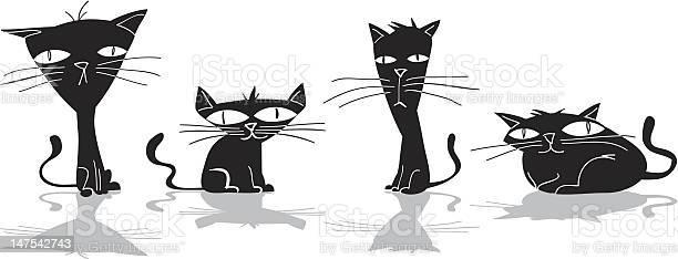 Four black cats vector id147542743?b=1&k=6&m=147542743&s=612x612&h=oi2y26lxepkc03ghvvn33vjbjdxe0c0mec6pdnnlvi4=