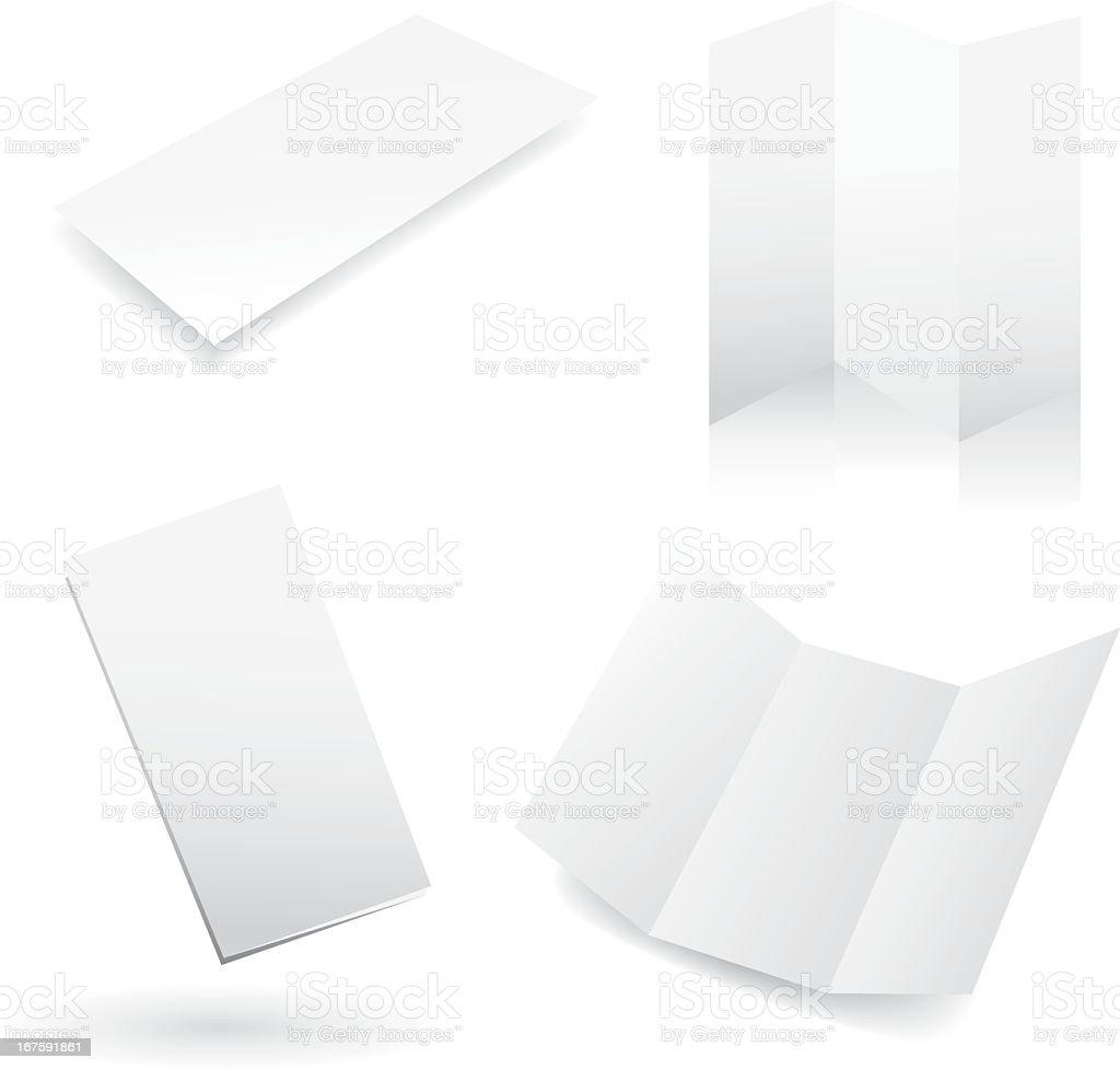 Four blank white design templates vector art illustration