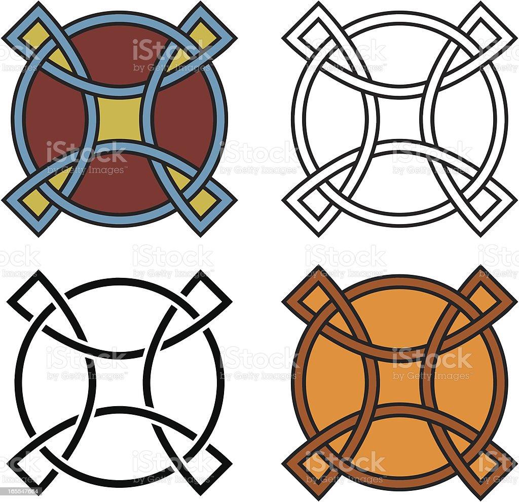 Four celtic shields, vector vector art illustration