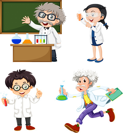 Four Chemists向量圖形及更多人圖片
