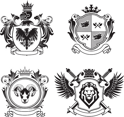 Four coat of arms