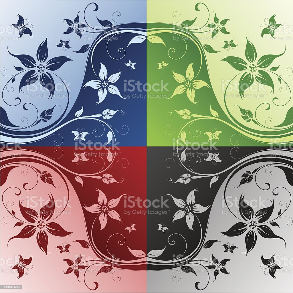 Four color flower royalty-free four color flower stock vector art & more images of abstract