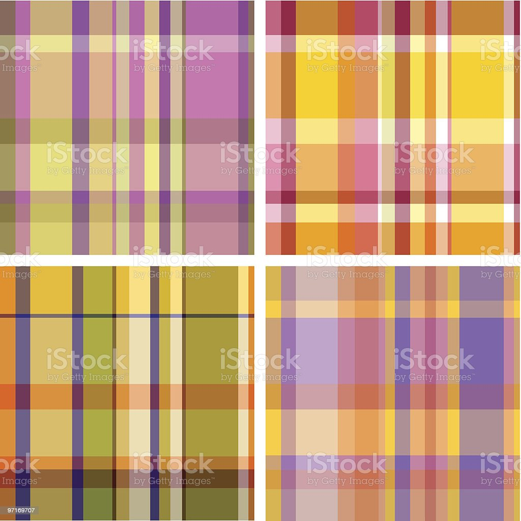 Four colorful checkered madras royalty-free stock vector art