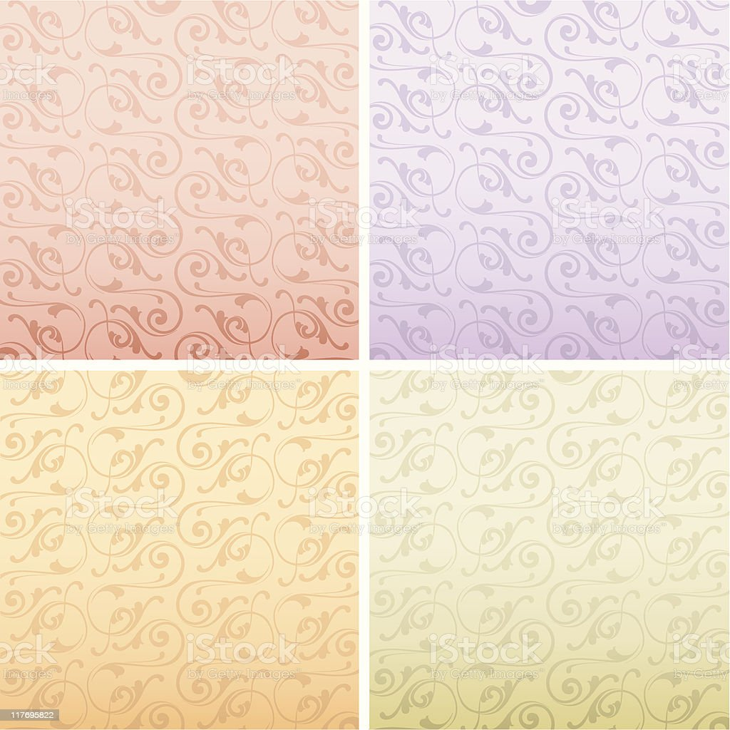 four colors pattern background vector art illustration