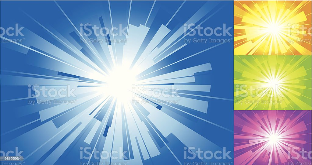 Four colors sun background. royalty-free four colors sun background stock vector art & more images of abstract