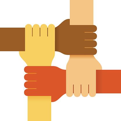 Four colours hands